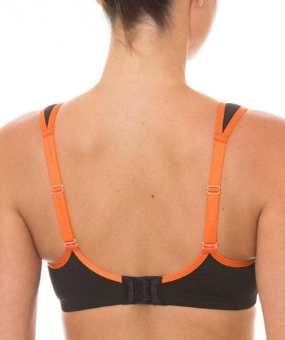 Triumph Triaction Endurance Sports Bra  - Black/Orange - Back