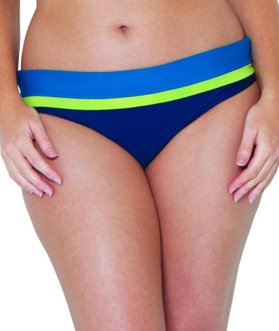 Curvy Kate Maya Fold Over Brief - Blue Mix - Front - 2
