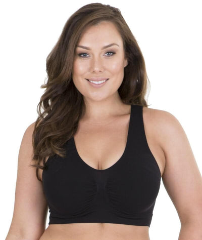 Sonsee High Back Comfort Bra - Black Bras Gorgeous 14-16