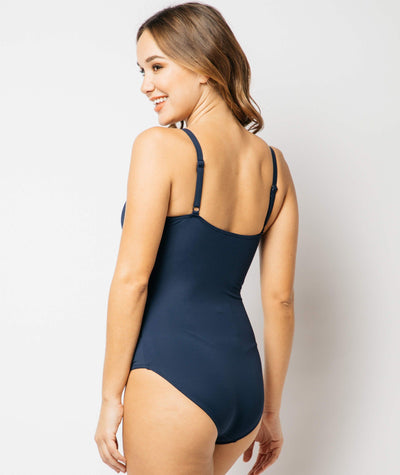Nip Tuck Cross Front Multifit One Piece Plains - Ink Navy Swim