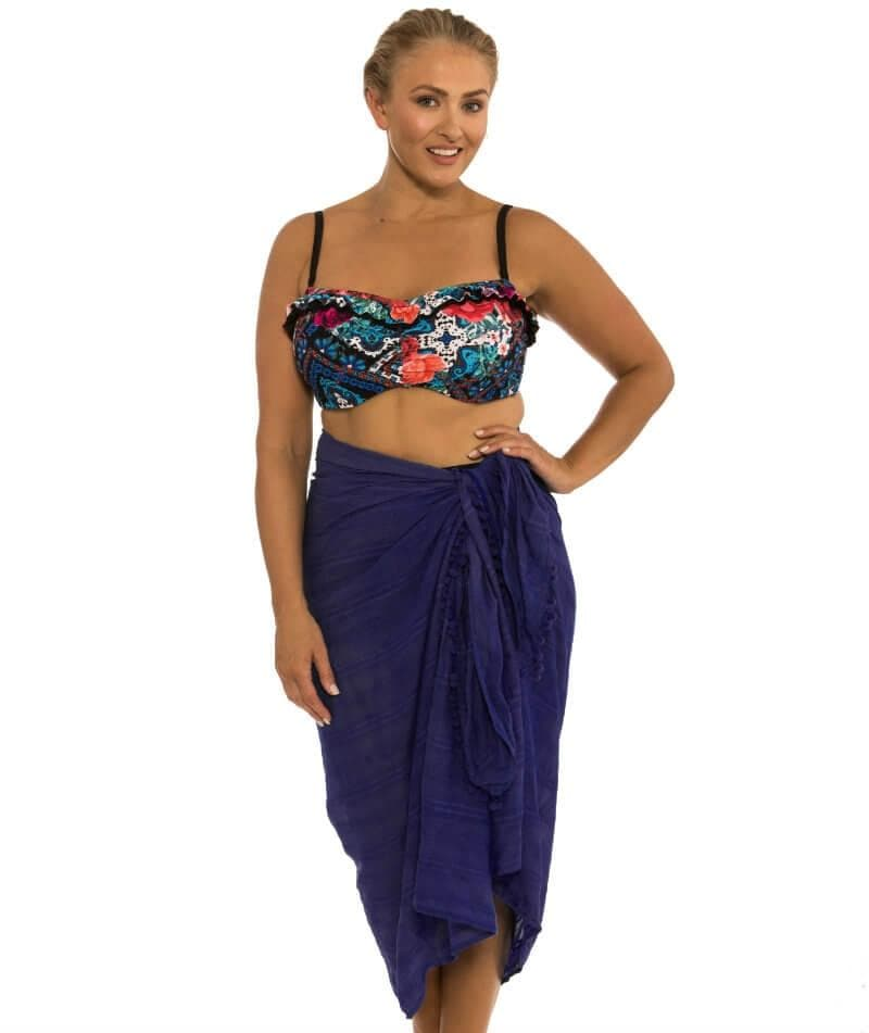 Capriosca Beach Cover Up Sarong - Navy 735b3ceb4