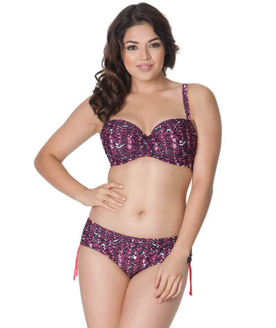 Curvy Kate Instinct Padded Balcony Bikini Top - Cherry Berry