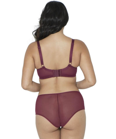 Curvy Kate Victory Short - Wine - Model - Back