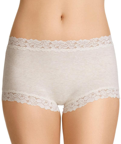 Jockey Women Parisienne Cotton Marle Full Brief - Vanille