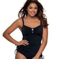 Curvy Kate Luau Love Tankini- Black