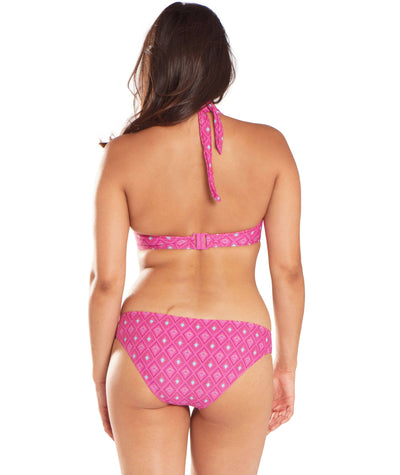 Curvy Kate Revive Halterneck Bikini - Pink Print - Model - Back