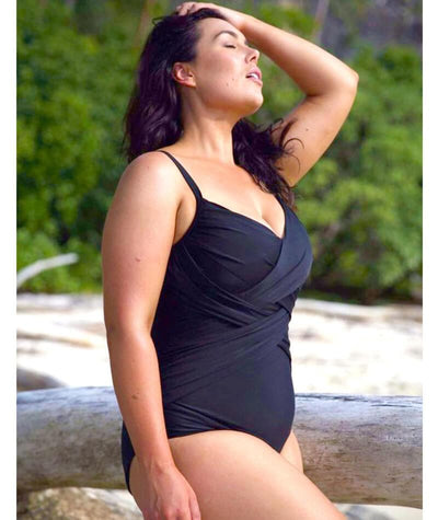 Capriosca Criss Cross One Piece - Black Swim