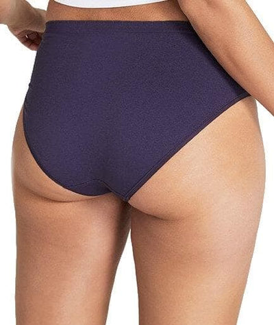 Jockey Everyday Seamfree Hi Cut Brief - Midnight Madness - Back