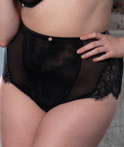 Scantilly Intoxicate High Waist Brief - Black Knickers