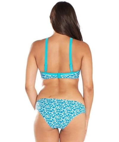 Curvy Kate Riptide Mini Brief - Blue Print - Model - Back - 2