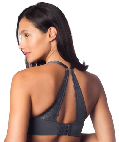 Hotmilk Temptation Maternity & Nursing Bra - Graphite - Back