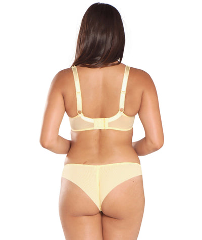 Curvy Kate Princess Balcony Bra - Lemon - Model - Back