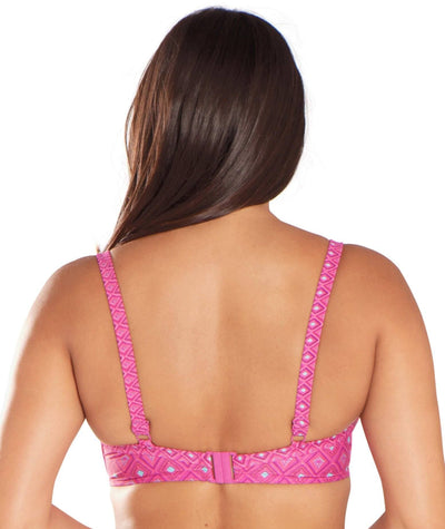 Curvy Kate Revive Padded Balcony Bikini - Pink Print - Back