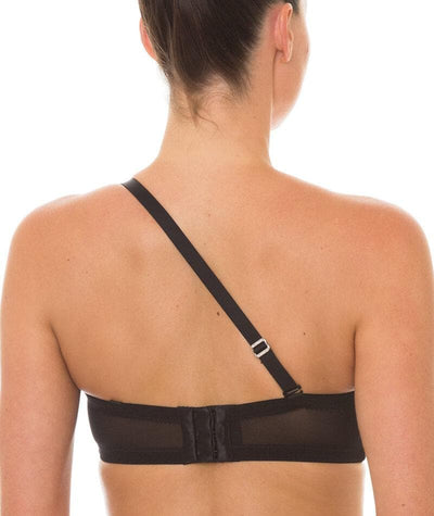 Triumph Beautiful Silhouette Strapless Convertible Bra - Black - Convertible - Back