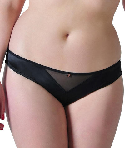 Scantilly Peek A Boo Brief - Black - Front