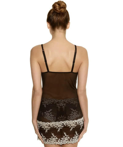Wacoal Embrace Lace DD-E Cup Chemise Dress - Black - Back