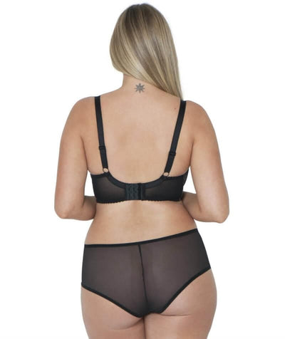 Curvy Kate Victory Amore Balcony Bra - Black/Rose - Model - Back