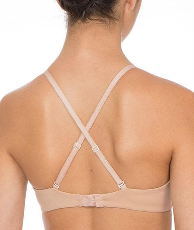 Triumph Gorgeous Basic T-Shirt Bra - Nude - Crossover - Back