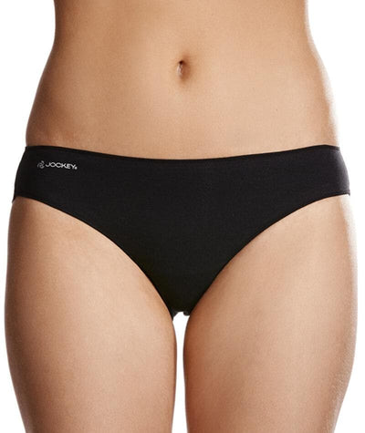 Jockey No Panty Line Promise Next Generation Cotton Bikini - Black