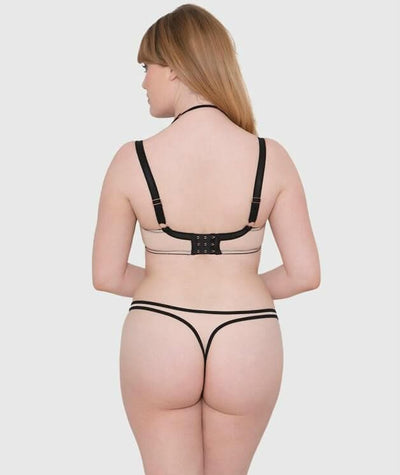 Scantilly Knock Out Thong - Latte - Model - Back