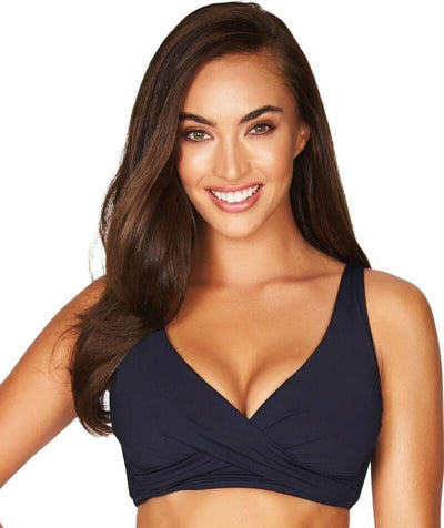 Sea Level Essentials Cross Front B-DD Cup Bikini Top - Night Sky Navy Swim 8
