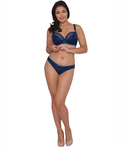 Curvy Kate Ellace Balcony Bra - Indigo - Model - Front