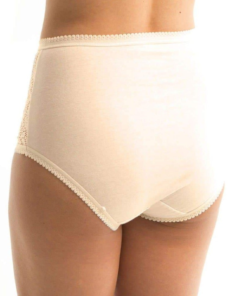 Triumph Cotton & Lace Full Brief - Body Beige