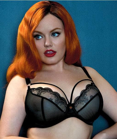 Scantilly Surrender Plunge Bra - Black Bras
