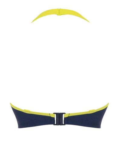 Curvy Kate Maya Bandeau Bikini Top - Blue Mix Swim