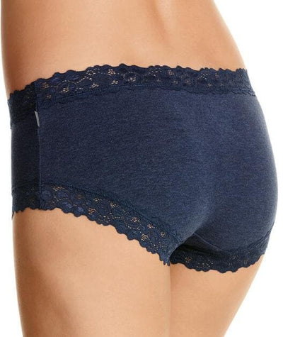 Jockey Parisienne Cotton Marle Boyleg - Ink Blue Knickers