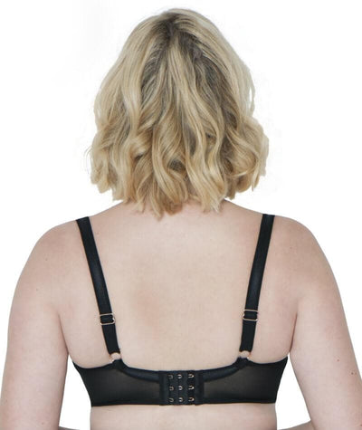 Scantilly Peek-A-Boo Lace Bra - Black - Back
