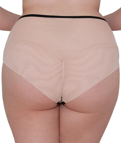 Scantilly Knock Out Brief - Latte - Back