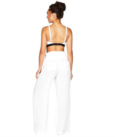 Sea Level Plains Folded Band Beach Pant - White - Model - Back