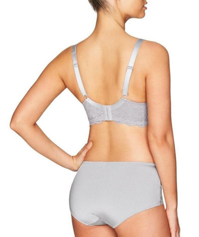 Fayreform Lace Perfect Midi Brief - Silver Sconce - Model - Back