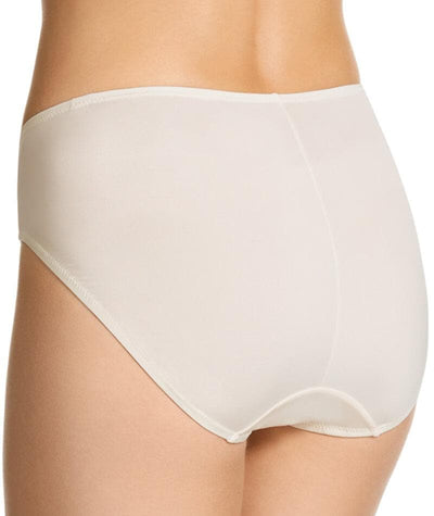 "Jockey No Ride Up Microfibre and Lace Hi Brief - Cream ""Back"""