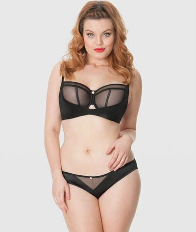 Scantilly Peek A Boo Bare Face Cheek Brief - Black Knickers