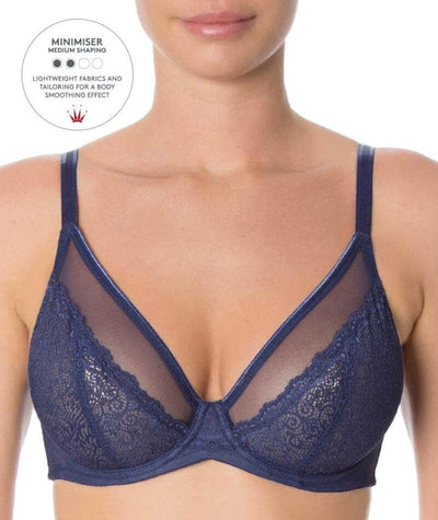 Triumph Sheer Minimizer Bra - Deep Water Bras 10D