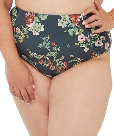 Artesands Neo Kimono Rouched Side High Waist Brief - Green