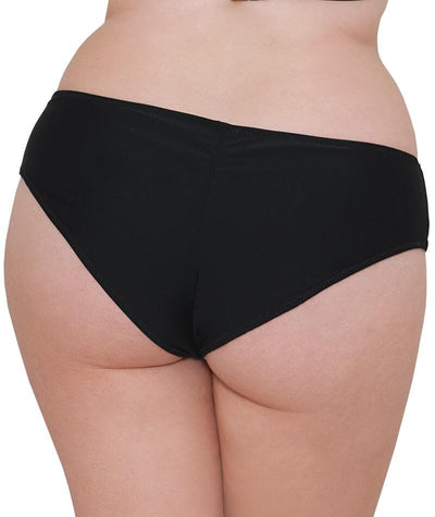 "Curvy Kate Peachy Pairs Reversible Short - Black / Lime ""Back"""