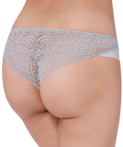Triumph Amourette Spotlight Brazilian Brief - Grey Combination Knickers