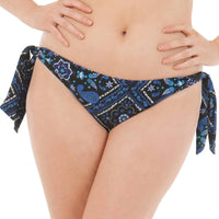 Curvy Kate Free Spirit Tie Side Brief - Blue Mix