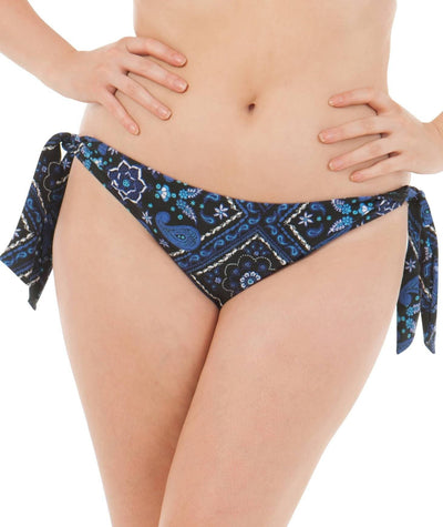 Curvy Kate Free Spirit Tie Side Brief - Blue Mix Swim 10