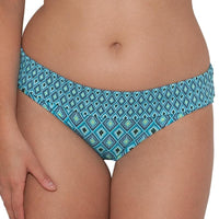 Curvy Kate Revive Fold-Over Brief - Aqua Print