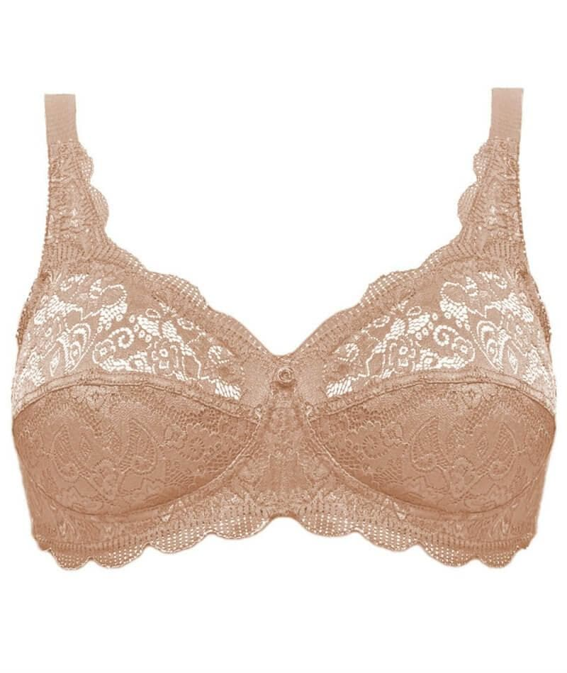 Susa Latina Wirefree Lace Bra - Toffee - Front