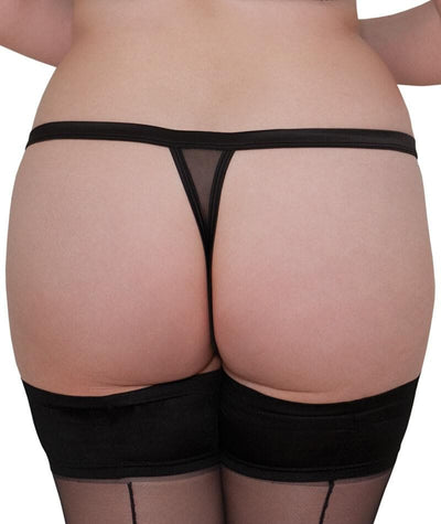 Scantilly Lavish Thong - Black Knickers