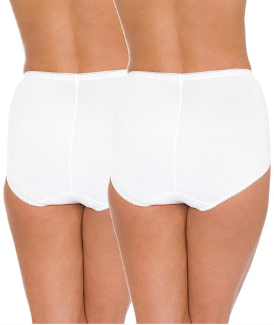 Triumph Sloggi Maxi Brief 2 Pack - White - Back View