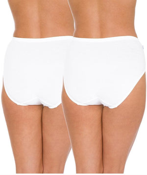Triumph Sloggi Hikini 2 Pack Midi Brief - White Knickers 12