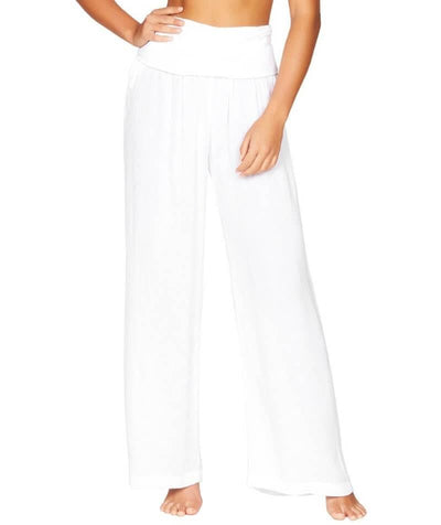 Sea Level Plains Folded Band Beach Pant - White - Front