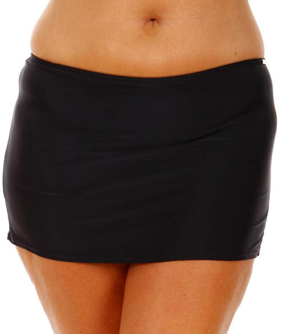 "Capriosca Black	Skirted Bottom ""front view"""