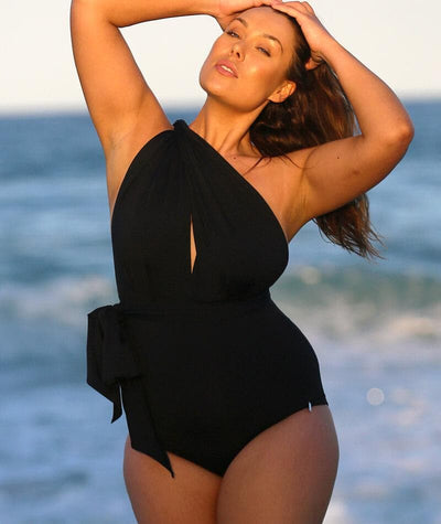 Capriosca Wrap Tie One Piece - Black Swim 10